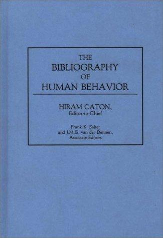 The Bibliography of Human Behavior: (Bibliographies and Indexes in Anthropology)