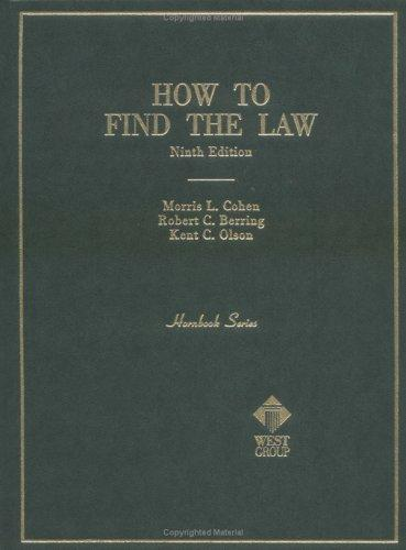 How to Find the Law (Hornbook Series Student Edition)