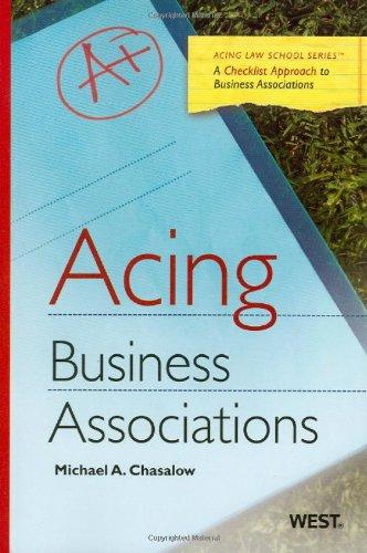 Acing Business Associations (Acing Law School )