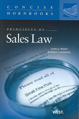 Principles of Sales Law The Concise Hornbook Series
