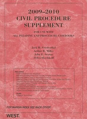2009 Civil Procedure Supplement for use with all Pleading and Procedure Casebooks