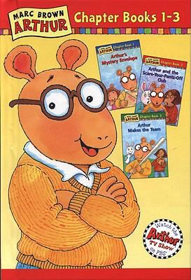 Marc Brown Arthur Chapter Books 1-3 Arthur's Mystery Envelope, Arthur and the Scare-Your-Pants-Off Club, Arthur Makes the Team