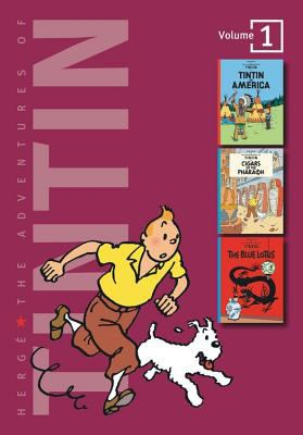 Adventures of Tintin/3 Complete Adventures in 1 Volume Tintin in America/Cigars of the Pharaoh/the Blue Lotus