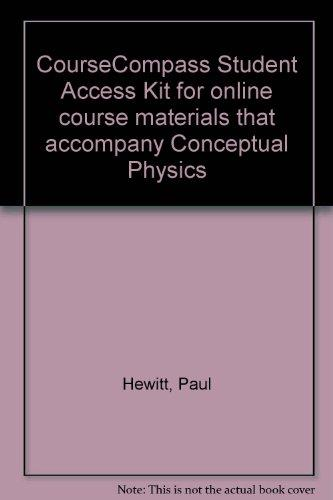 CourseCompass Student Access Kit for online course materials that accompany Conceptual Physics
