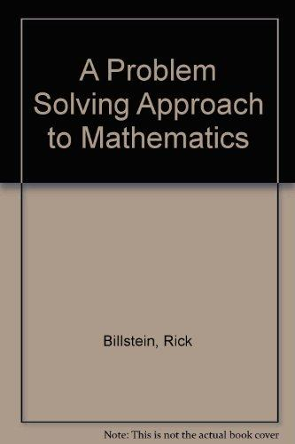 A Problem Solving Approach to Mathematics: Recover