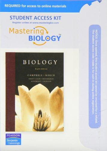 Mastering Biology With Pearson Etext Student Access Kit for Biology