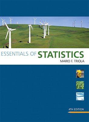 "Essentials of statistics"" forth edition: mario f. Triola."