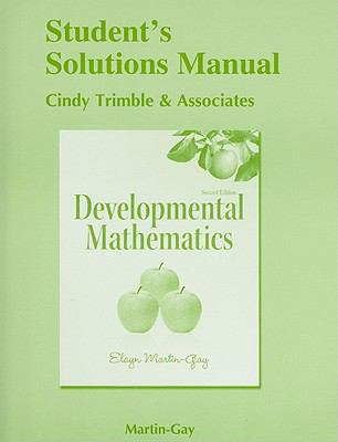 Student's Solutions Manual (standalone) for Developmental Mathematics