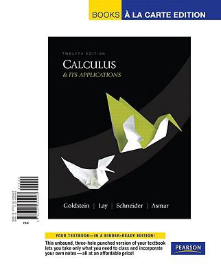 Calculus & Its Applications, Books a la Carte Edition (12th Edition)