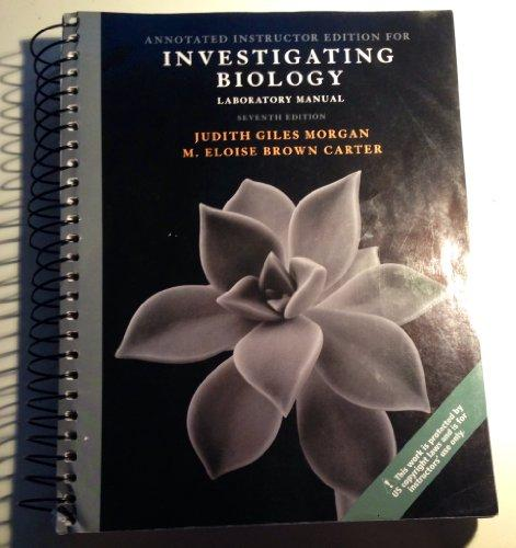 Investigating Biology Laboratory Manual
