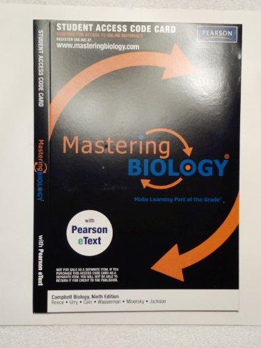 MasteringBiology(R) with Pearson EText Student Access Kit for Campbell Biology (ME Component)