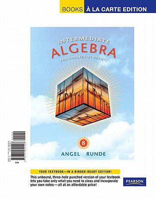 Intermediate Algebra for College Students, Books a la Carte Edition (8th Edition)