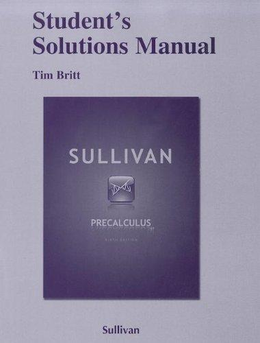 Student Solutions Manual for Precalculus