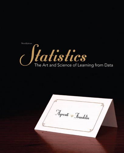 Statistics: The Art and Science of Learning from Data (3rd Edition)