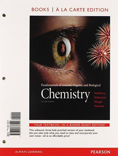 Fundamentals of General Organic & Biological Chemistry, Books a la Carte Plus MasteringChemistry with eText -- Access Card Package (7th Edition)