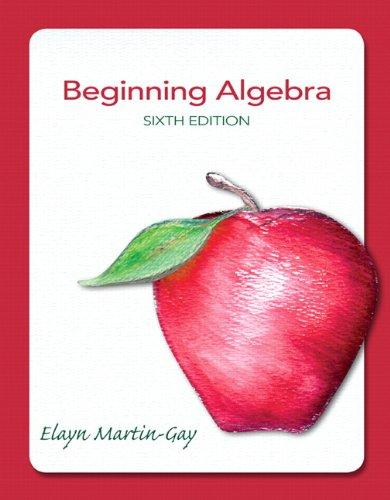 Beginning Algebra (6th Edition)