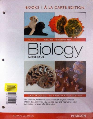 Biology: Science for Life, Books a la Carte Edition (4th Edition)