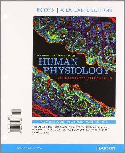 Human Physiology: An Integrated Approach, Books a la Carte Plus MasteringA&P with eText -- Access Card Package (6th Edition)