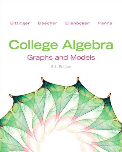 College Algebra: Graphs and Models Plus NEW MyMathLab with Pearson eText -- Access Card Package (5th Edition)