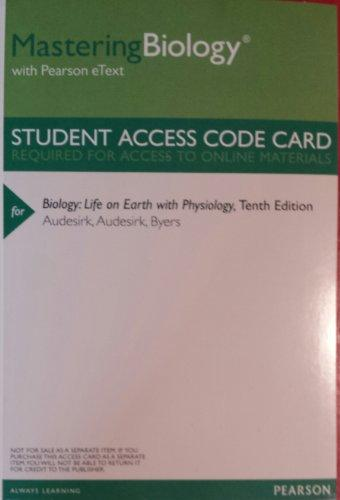 MasteringBiology with Pearson Etext -- Valuepack Access Card -- for Biology: Life on Earth with Physiology (ME Component)