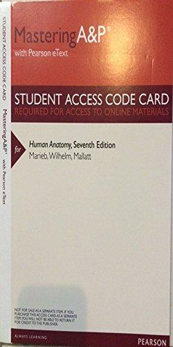 MasteringA&P with Pearson Etext -- Valuepack Access Card -- for Human Anatomy