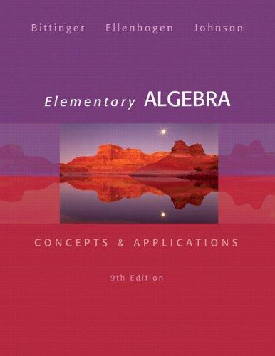 Elementary Algebra: Concepts & Applications (9th Edition)