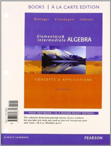 Beginning & Intermediate Algebra, 6th Edition