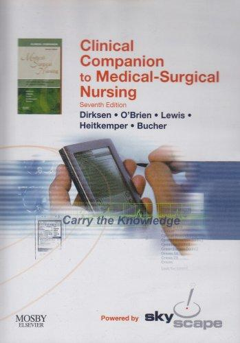 Clinical Companion to Medical Surgical Nursing - CD-ROM PDA Software, 7e