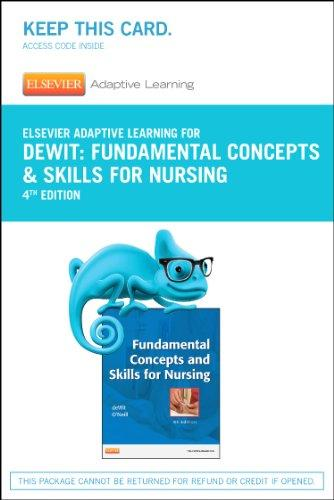 Elsevier Adaptive Learning for Fundamentals Concepts and Skills for Nursing (Access Card), 4e