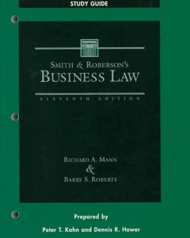 Smith and Roberson's Business Law : Study Guide