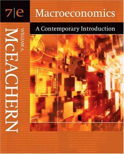 Macroeconomics: A Contemporary Introduction (with InfoTrac)