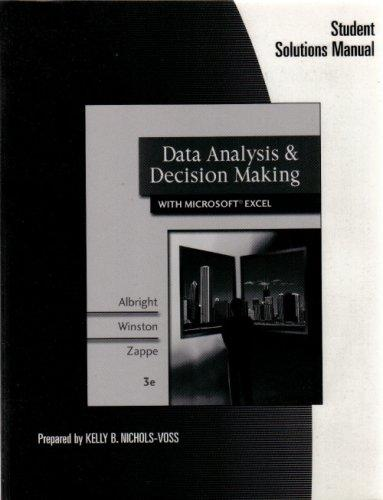 Data Analysis & Decision Making with Microsoft Excel (Student Solutions Manual)