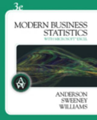 Modern Business Statistics (with Microsoft Excel and Student CD-ROM)