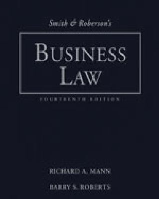 Smith and Roberson's Business Law -Study Guide