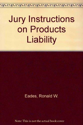 Jury Instructions on Products Liability