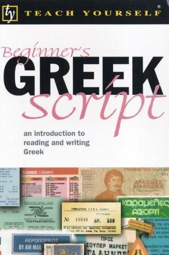Beginner's Greek Script (Teach Yourself)