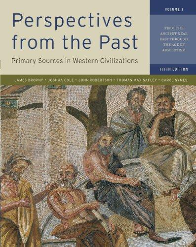 Perspectives from the Past: Primary Sources in Western Civilizations: From the Ancient Near East through the Age of Absolutism (Fifth Edition)  (Vol. 1)