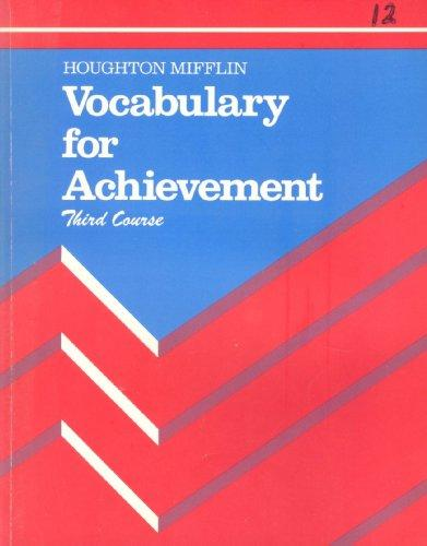 Vocabulary for Achievement 3th Course