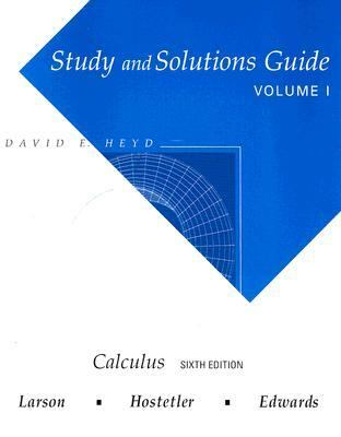 Study and Solutions Guide for Calculus