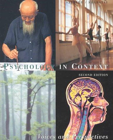 Psychology in Context: Voices and Perspectives