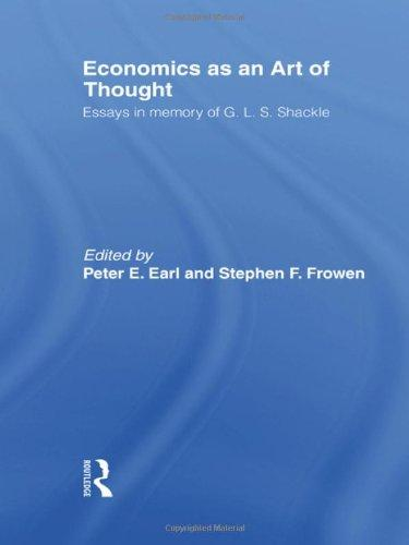 Economics as an Art of Thought: Essays in Memory of G.L.S. Shackle (Routledge Studies in the History of Economics)