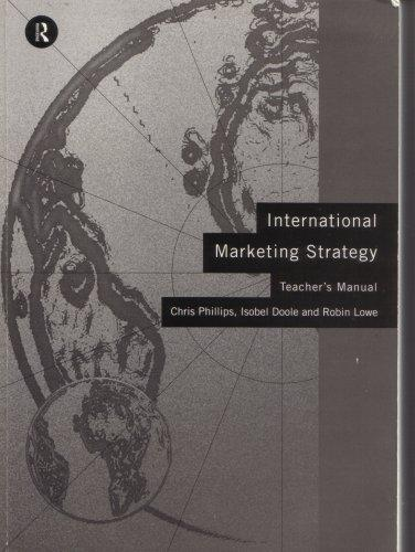 International Marketing Strategy: Teacher's Manual