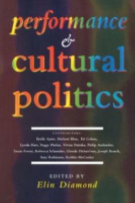 Performance and Cultural Politics