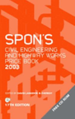 Spon's Civil and Highway Works Price Book 2003