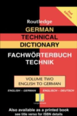 German Technical Dictionary English-German