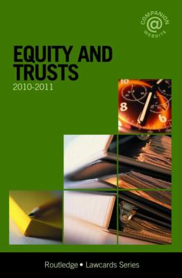 Equity and Trusts Lawcards 2010-2011 (Law Cards)