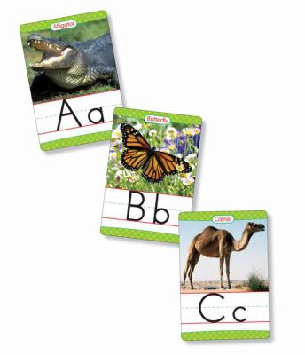Animals from A to Z Alphabet Set Manuscript 26 Ready-to-display Letter Cards With Fabulous Photos of Animals Grades K-3