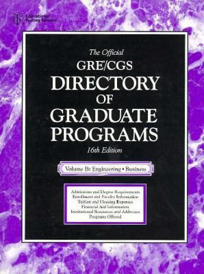 Official Gre Cgs Directory of Graduate Programs Engineering, Business