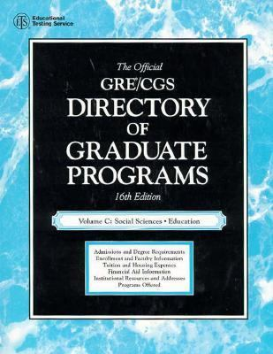 Official Gre Cgs Directory of Graduate Programs Social Sciences, Education