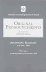 FASB Original Pronouncements 2008: Volumes 1-3 (Accounting Standards Original Pronouncements)